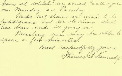 Phineas Kennedy's Letter to Tyrrell (13 July 1913)