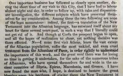 Robert Pinkertoni & Dhiata e Re në gjuhën shqipe, 1819