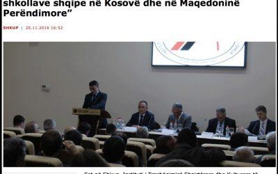 Te fillimet e shkollimit shqip për shqiptarët në Maqedoni dhe në Kosovë
